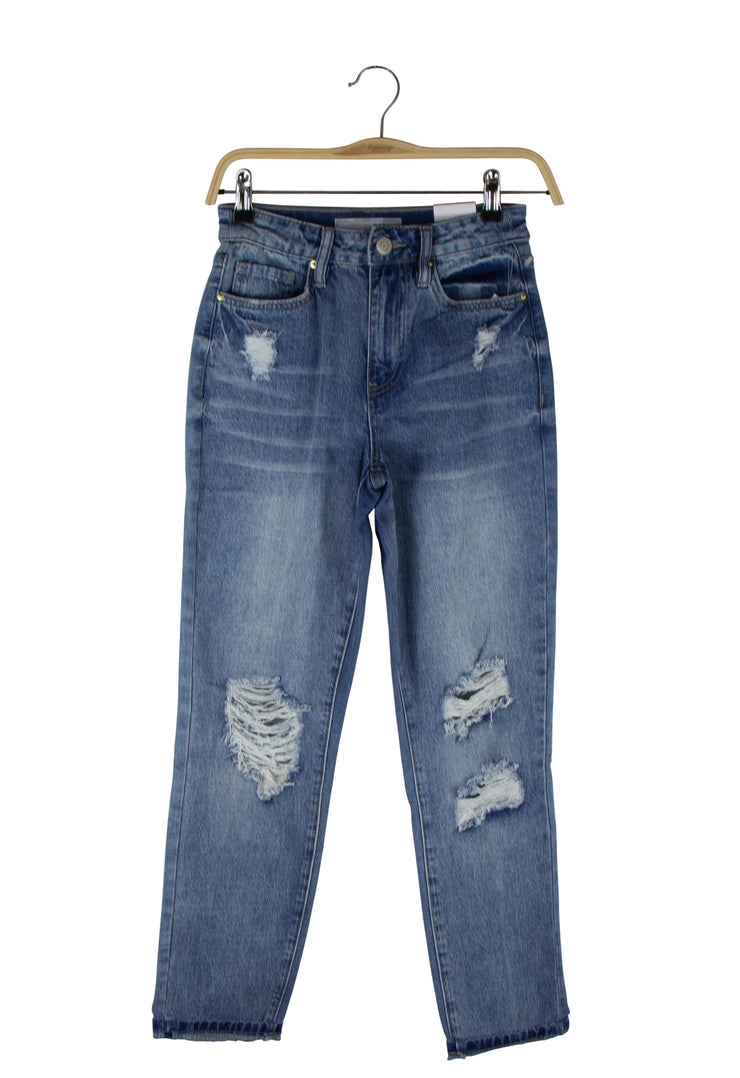 Don't Be Distressed Jeans in Light Blue