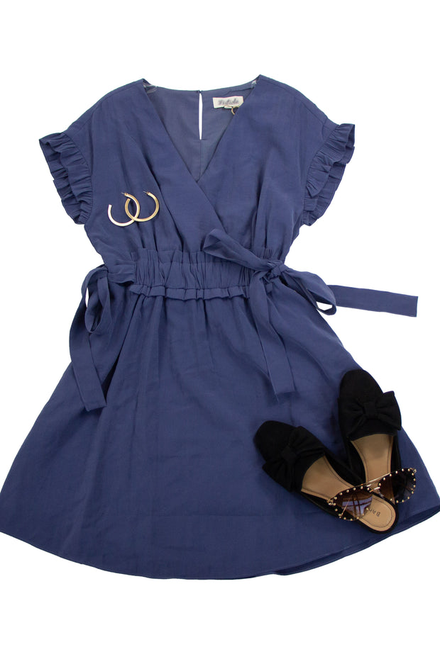 Up and Coming Dress in Blue