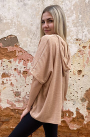 Robin Hooded Top in Brown