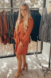 Get Spotted Dress in Dark Orange