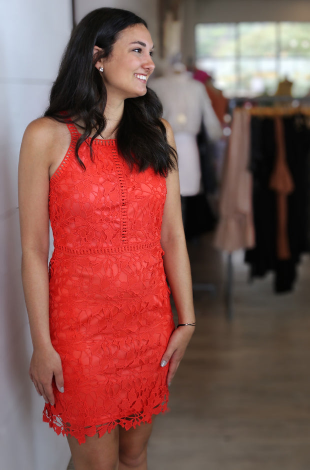 Clarity Dress in Dark Orange