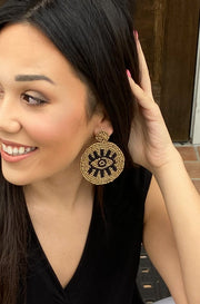 Eye of the Storm Earrings in Gold
