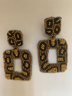 Golden Rule Earrings in Black