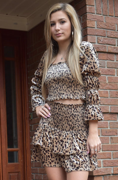 Maeve Crop Top in Leopard Print