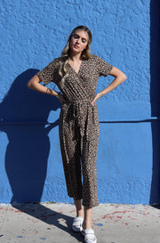 Take the Leap Jumpsuit in Leopard Print
