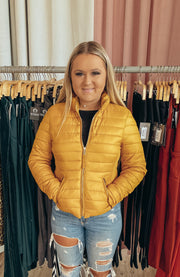 Trend Setter Jacket in Dark Yellow