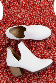 Making Moves Booties in White