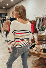 Easy Going Sweater in White