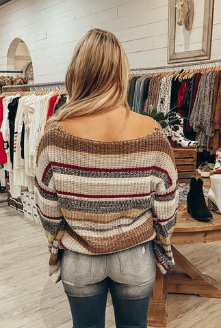 Walk This Way Cardigan in Brown