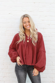 Ultimate Solid Top in Dark Red
