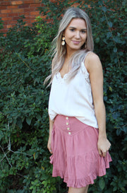 Penny Skirt in Dark Pink