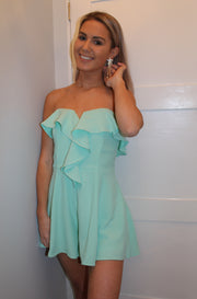 Gala Romper in Light Green