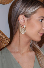 Dream Catcher Earrings in Brown