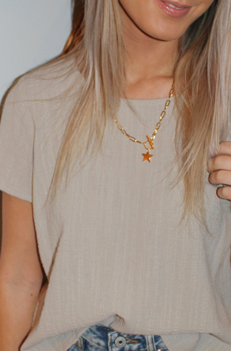 Falling Star Necklace in Gold
