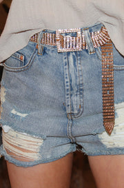 Glitz and Glitter Belt in Gold