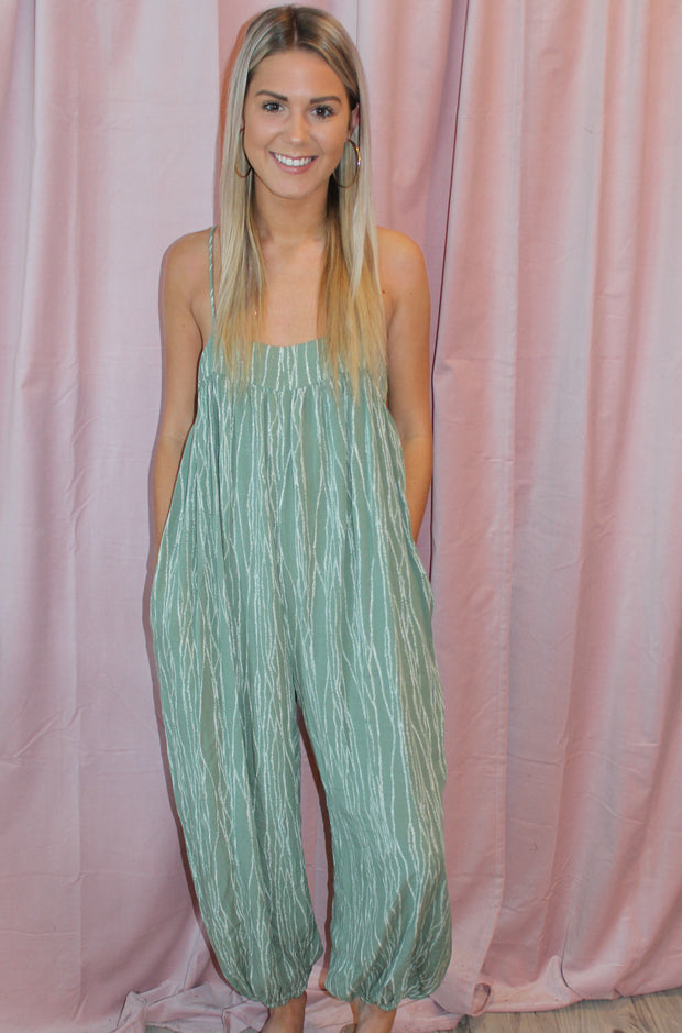 Reserved Jumpsuit in Dark Green