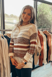 Destined For Greatness Sweater in Tan