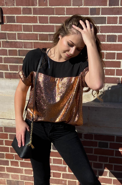 Shine Top in Gold