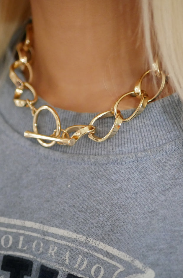 Inner Circle Necklace in Gold
