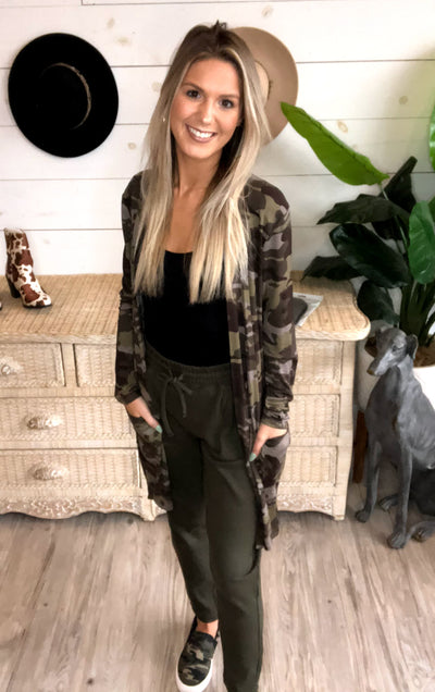 Cryptic Cardigan in Camo