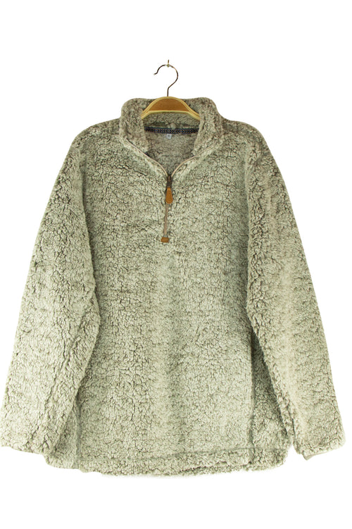 Merry and Bright Sherpa in Grey
