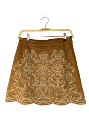 Embroider Me Skirt in Brown