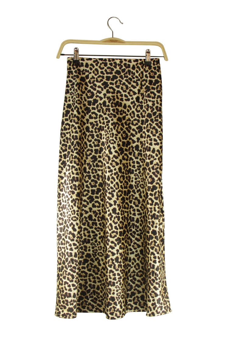 Wild Card Skirt in Leopard Print