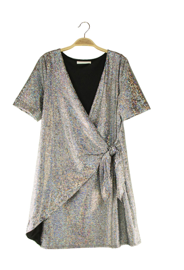 Brazen Dress in Silver