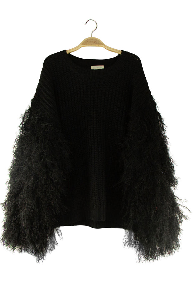 Swan Lake Sweater in Black