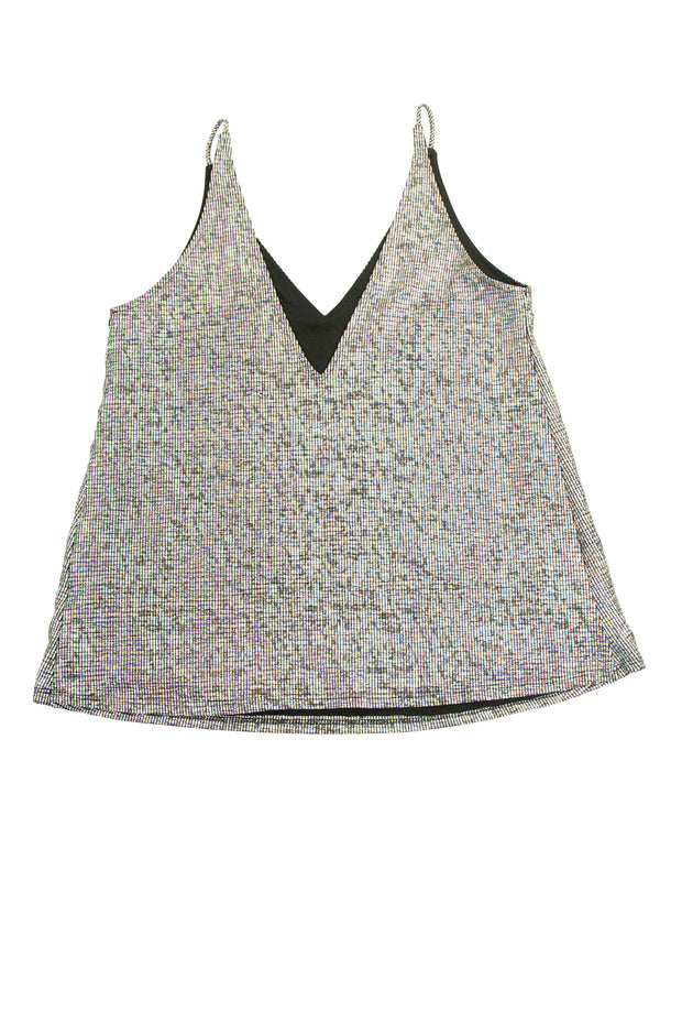 Flamboyant Top in Silver