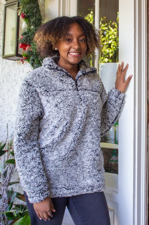 'Tis the Season Sherpa in in Grey