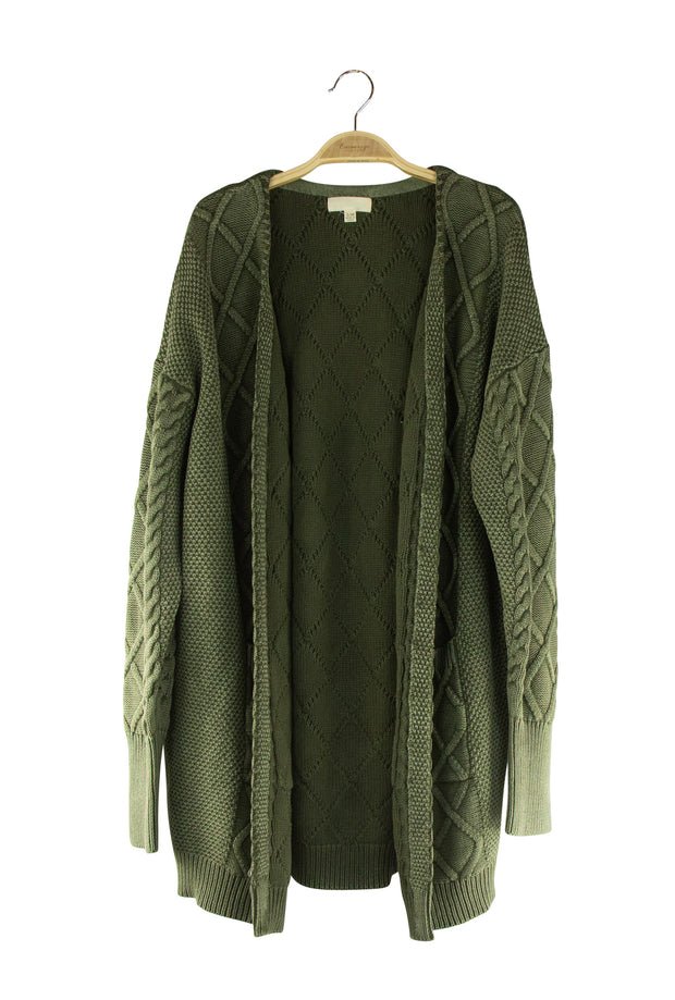 Cocooning Cardigan in Dark Green