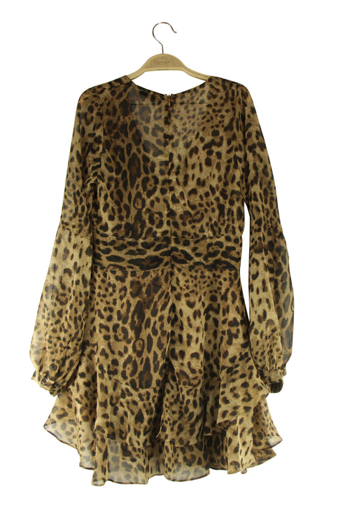 Fe-Line in the Sand Dress in Leopard Print