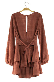 Rustic Romper in Dark Orange