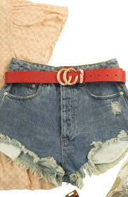 NYC Belt in Red