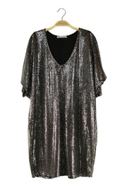 Shimmer Dress in Black