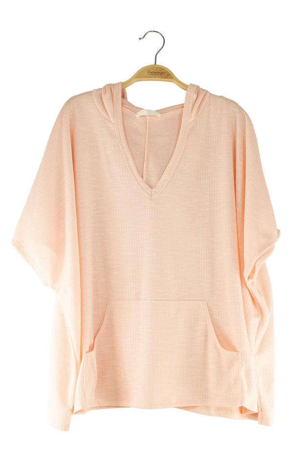 Robin Hooded Top in Light Pink