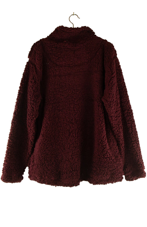 'Tis the Season Sherpa in in Burgundy