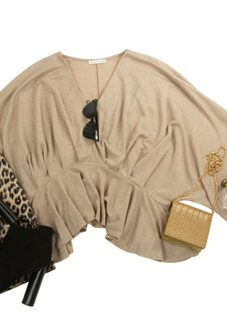 Natural Woman Top in Brown