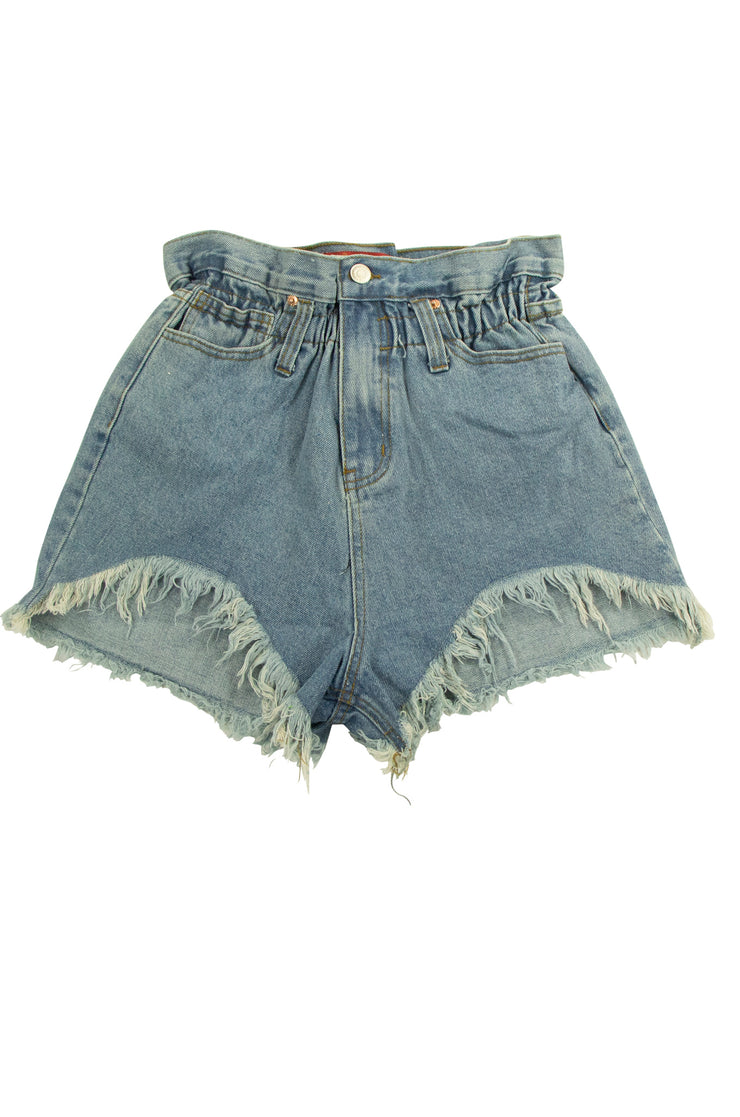 Gathering Shorts in Dark Blue