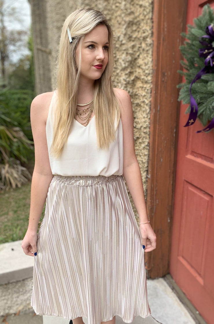 Trailblazer Skirt in Gold