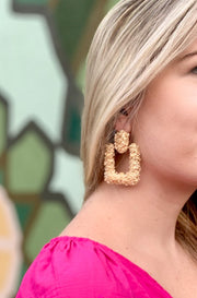 Razzle Earrings in Gold