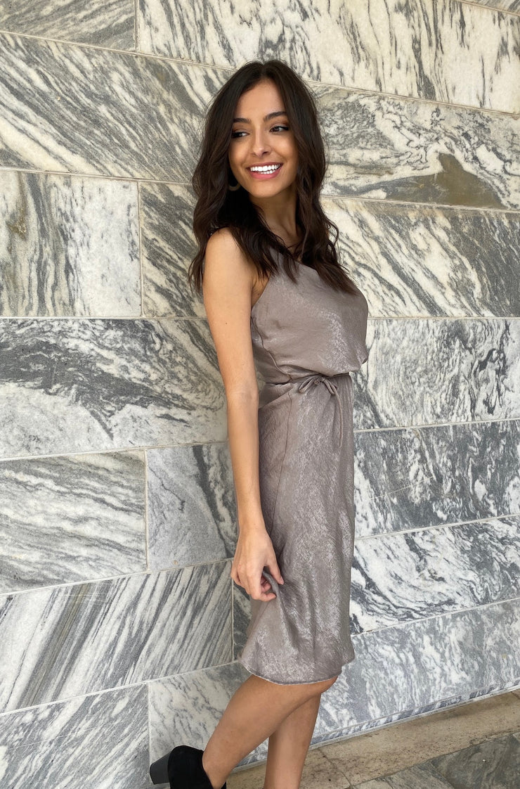 Ombre Dress In Brown