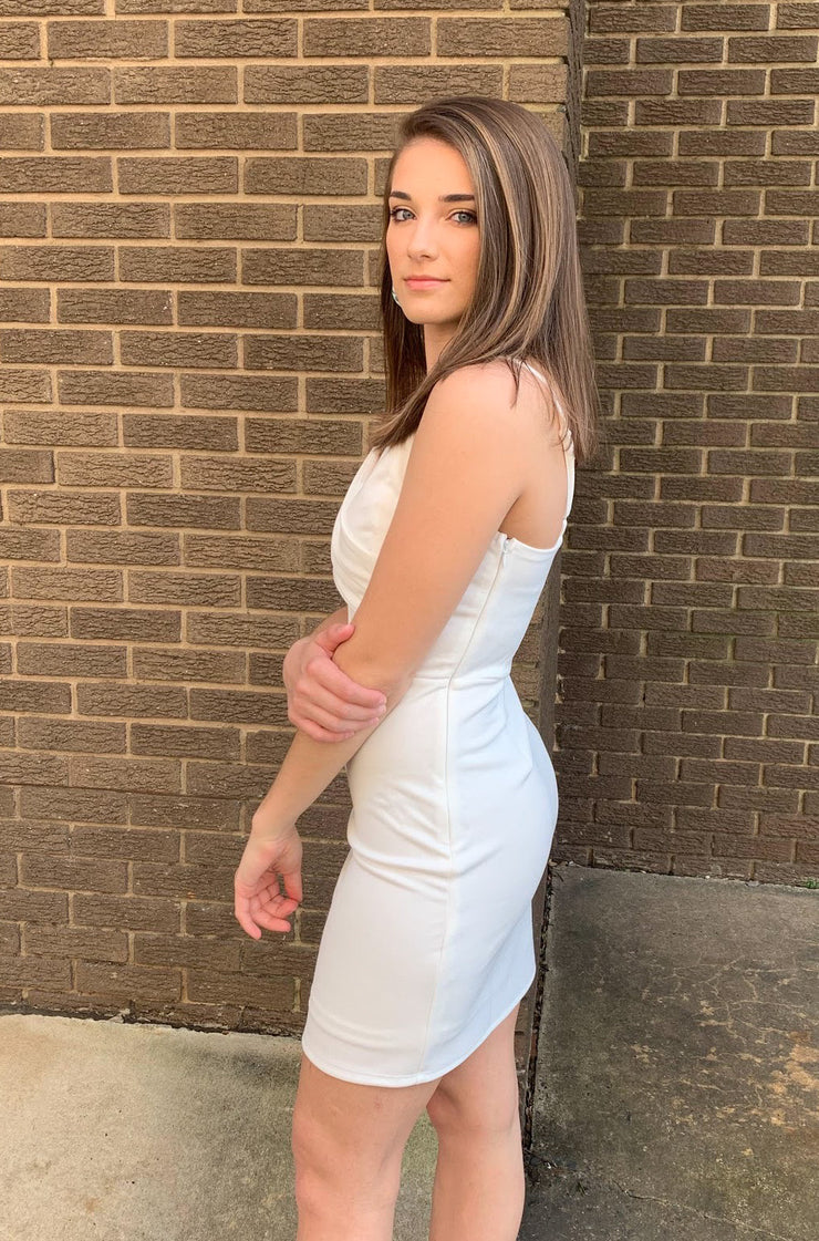 Attentive Dress in White