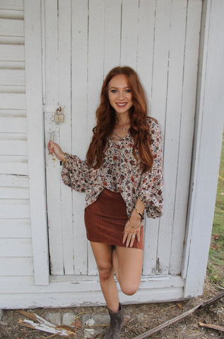 Zip Code Cheetah Mini Skirt in Green