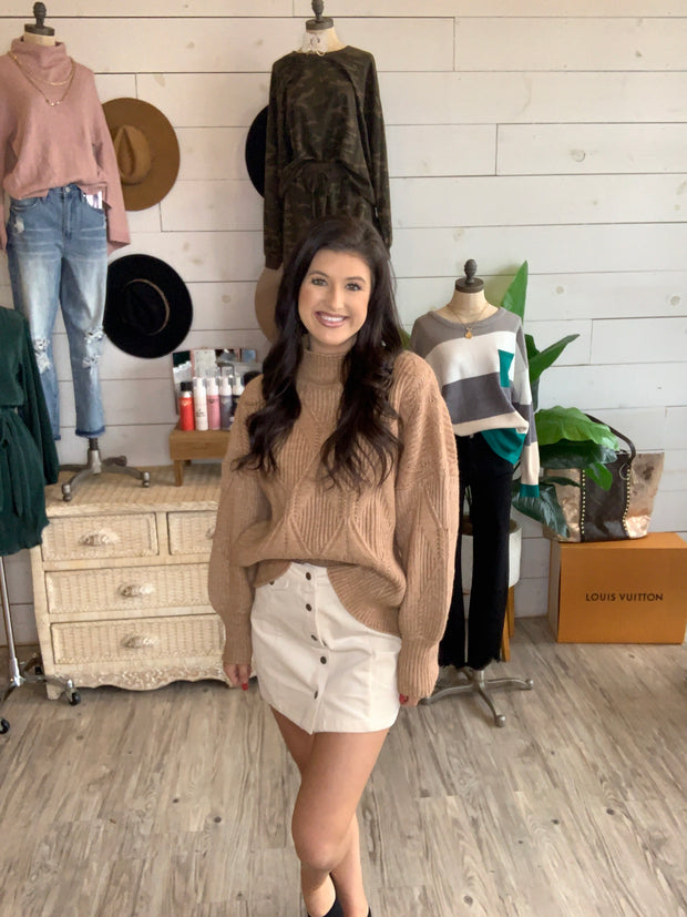 Always Positive Sweater in Brown