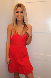 Peace of Mind Dress in Red
