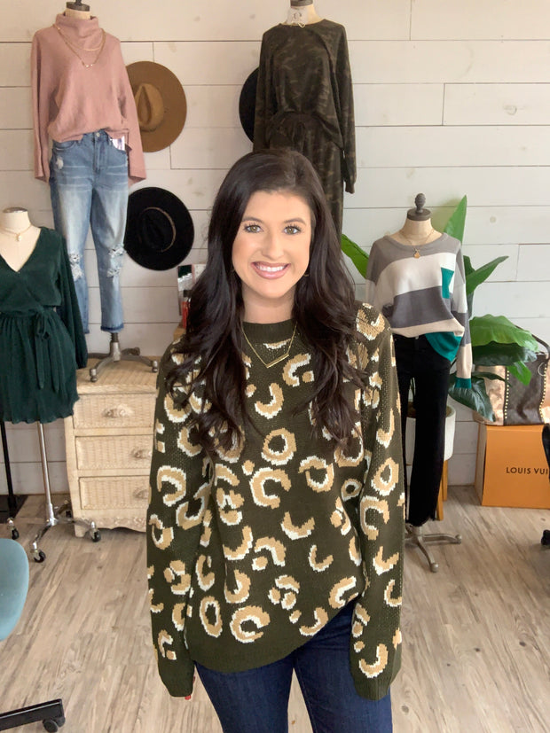 Brighter Days Sweater in Dark Green