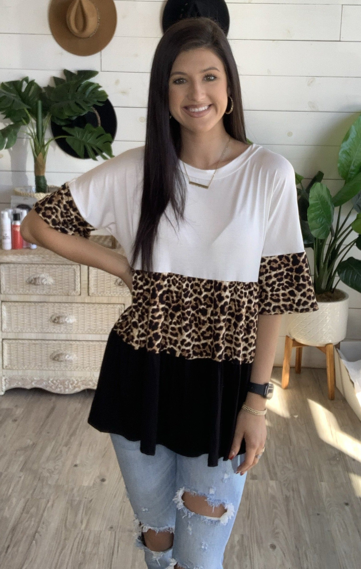 Animal Instincts Top in Leopard