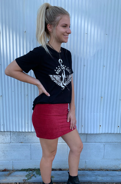 Urbane Skirt In Dark Red
